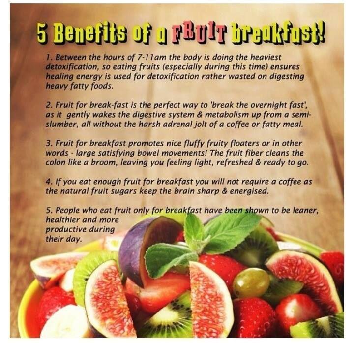 5 Benefits of a Fruit Breakfast.. How often do you eat ...