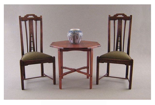 ... Greene And Greene Occasional Table; Mike Murphy, IGMA Fellow   Greene  And Greene Side Chairs; Lee Ann Chells Wessel; IGMA Fellow   Newcomb Vase