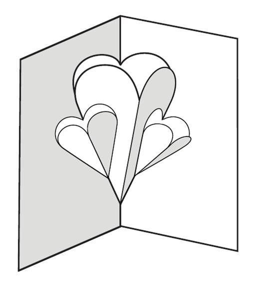 Шаблоны поп-ап открыток, стихи открытки розы