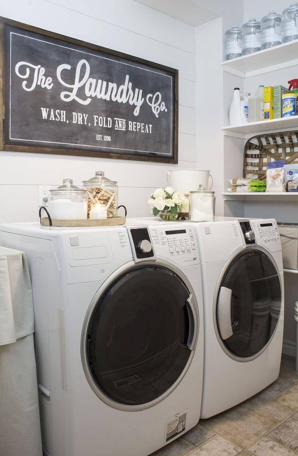 34 Farmhouse Laundry Room Ideas to Organize