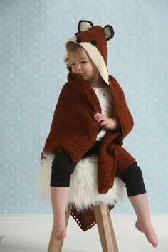 Fairytale Fox Hooded Blanket - I Like Crochet | Your little one will loves snuggling up in this adorable fox blanket.