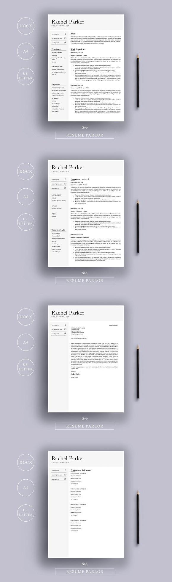 Resume 4 Page A4 + US Letter. Nursing Resume. 15.00
