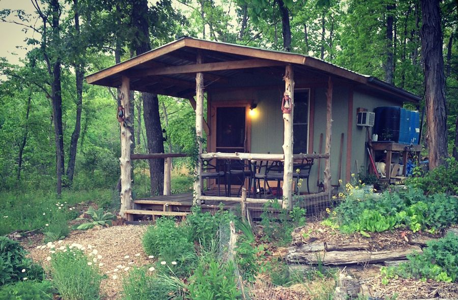 Explore this homestead property called Our Tomorrow and tour their DIY Tiny  Cabin, along with the other two tiny homes on the property!