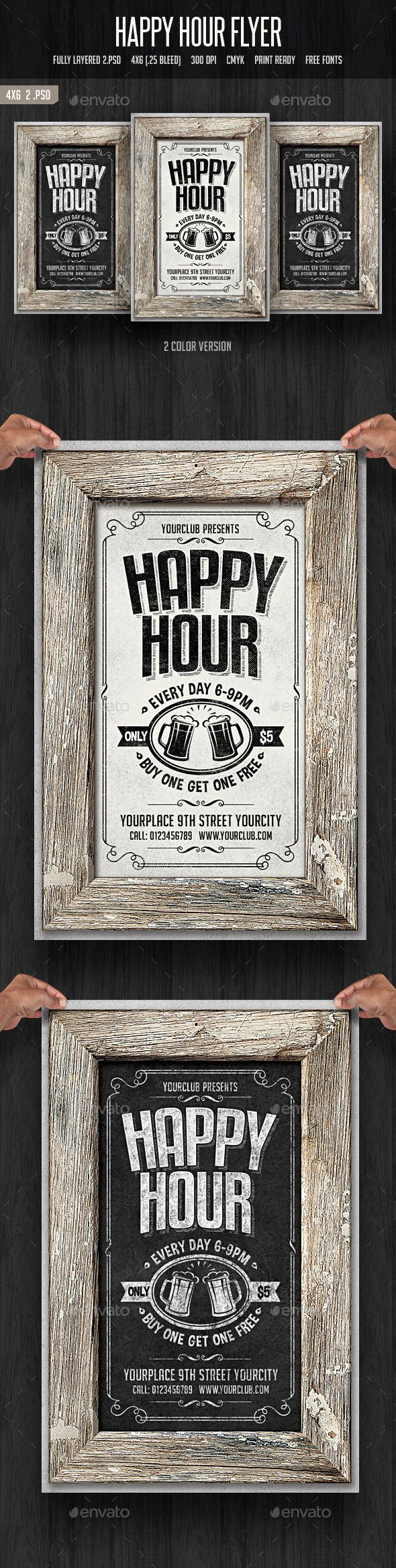 Happy Hour Flyer 2 Happy Hour Flyer Template And Template