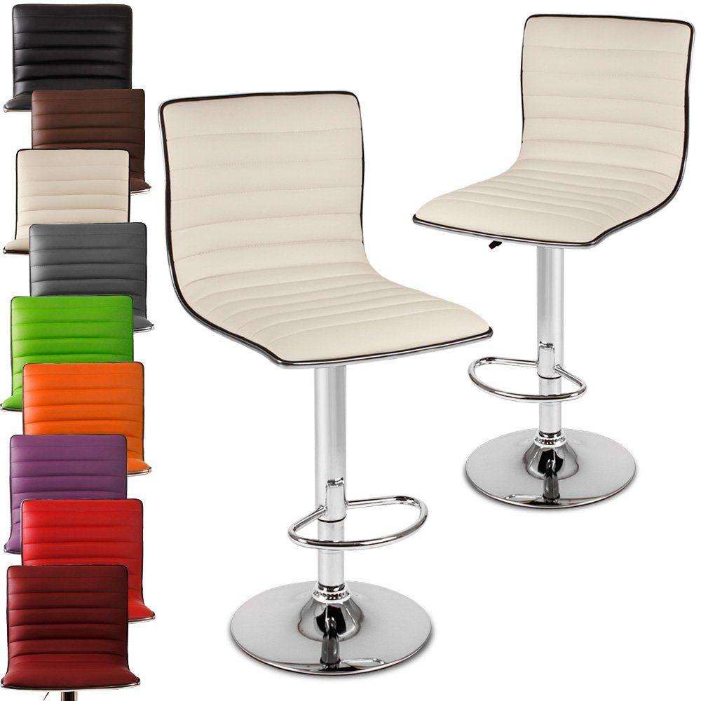 miadomodo® lbhk05 two bar stools different colours beige