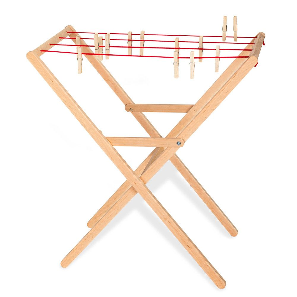 drying rack & pegs | play | wooden toys, wooden ironing