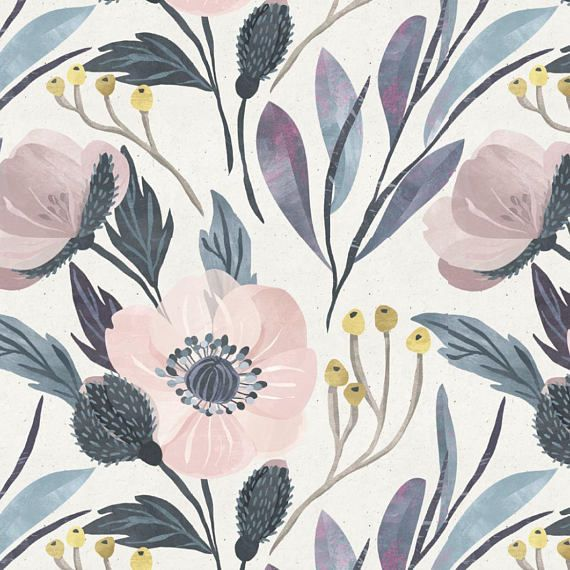 Moody Vintage Style Wallpaper Flower Wallpaper Removable Cute Wallpaper Peel And Stick Wall Paper Floral Wallpaper Nursery Decor Removable Wallpaper Nursery Floral Wallpaper Vintage Style Wallpaper