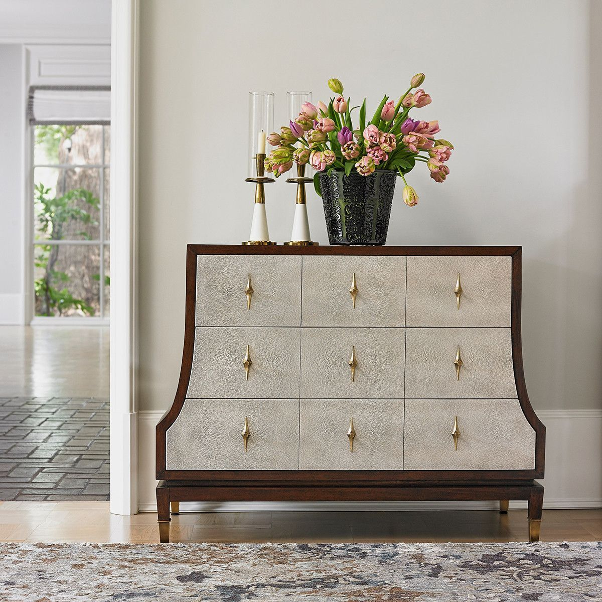 Ambella Home Tapered Chest Antique Brass Traditional
