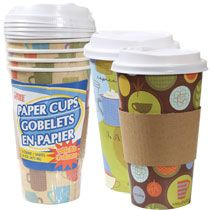 Bulk 16 Oz Disposable Paper Coffee Cups With Plastic Lids 5 Ct