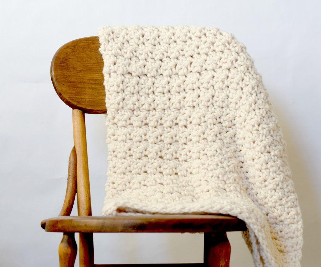 Crochet Blanket Chunky Free Pattern   Afghans   Pinterest