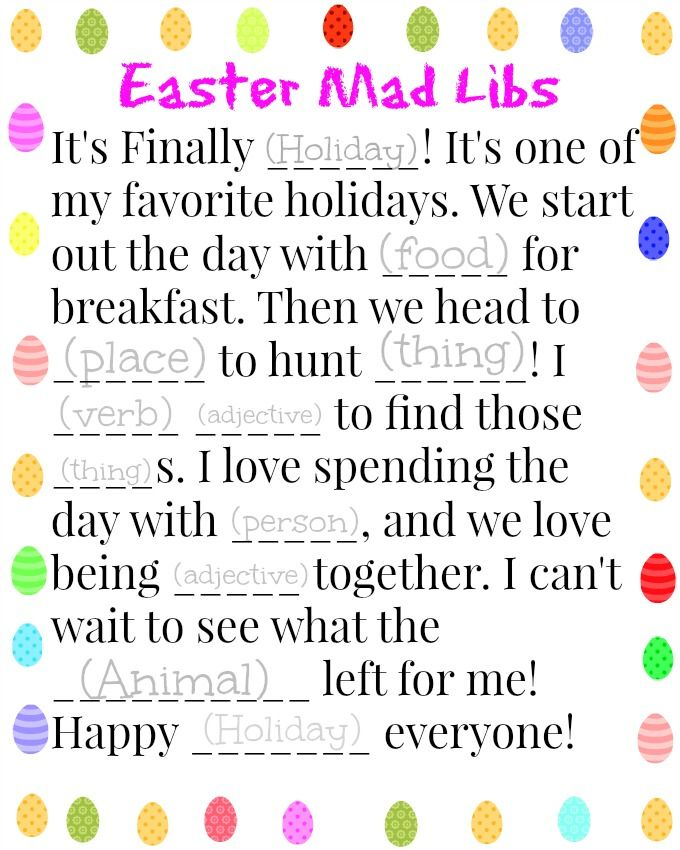 4 Free Easter Printable Activities For Kids Printable Easter Activities Easter Printables Easter Printables Free
