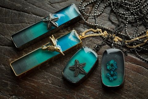 Nature Inspired Resin Jewelry by The Blue Brick (The Beading