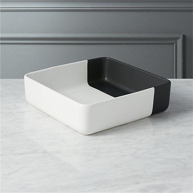 Dip Black And White Serving Bowl Serving Bowls Modern Serving Bowls Square Platter