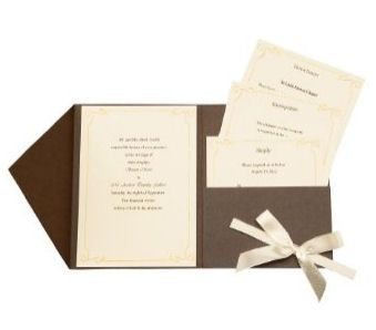 DIY Wedding Invitations - Brown Jacket with Vintage Ivy Design $34.99
