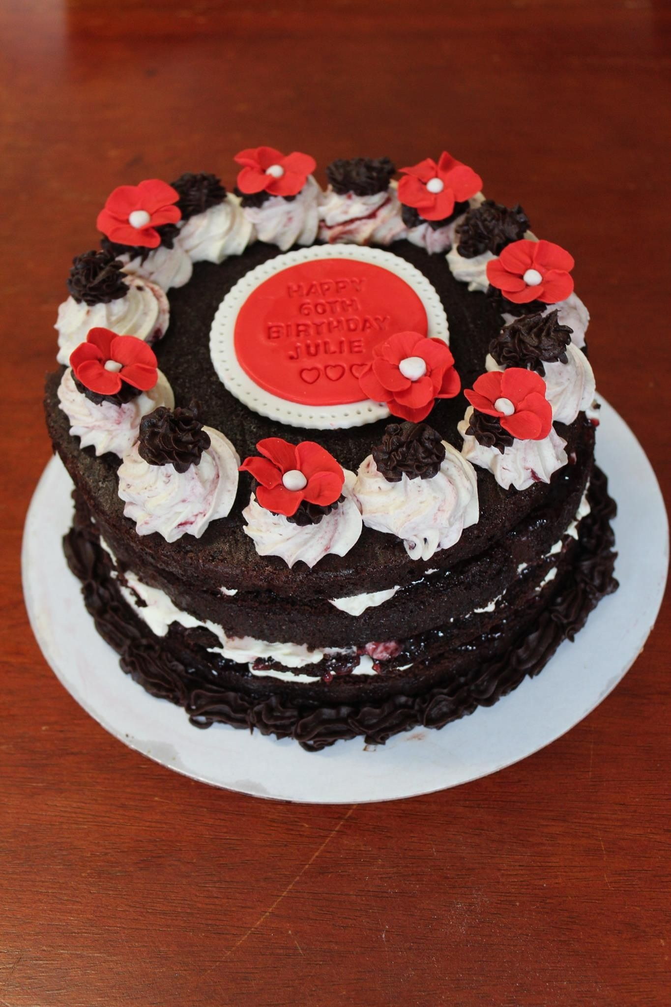 Black Forest Birthday Cake By Sweet Bee Cake Design Cakes