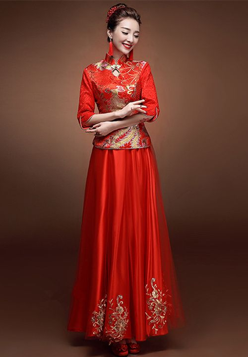 12 robes de mariée rouges chinoise | Fashion,