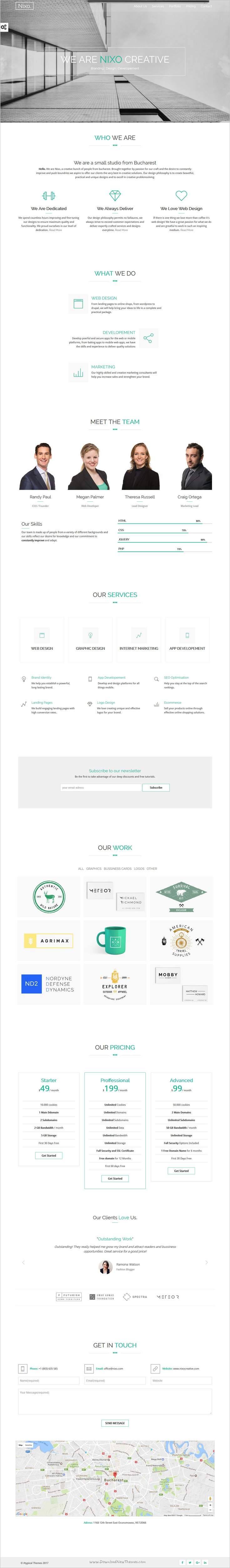 Nixo is fresh design and smooth animations #bootstrap template for ...