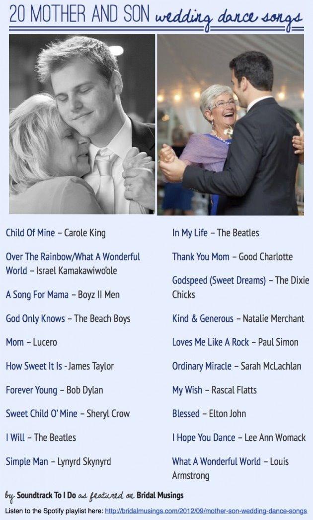 Songs for Mother & Son Wedding dance.   ImaginAry wedding ...