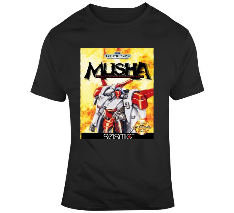 Musha Sega Genesis Cover Fan T Shirt Sega Genesis Graphic Apparel Shirts