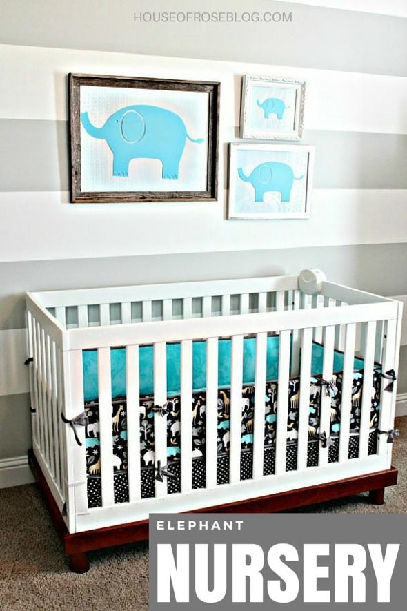 Gray and White Nursery - Elephants - Gender Neutral http ...