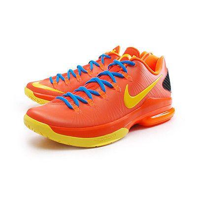 huge selection of 248f5 36d0b Nike KD V 5 Elite Mens 585386-800 Team Orange Durant Basketball Shoes Size 9