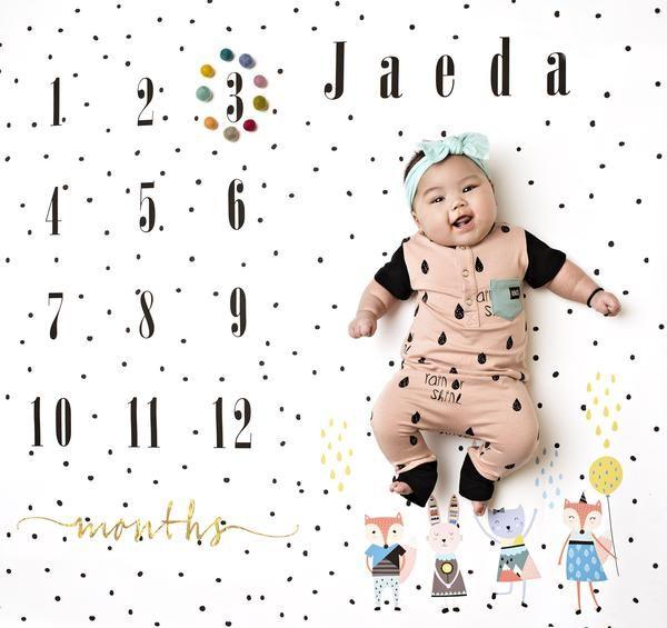 Polka Calendar Photo Background Baby Calendar Photo Backdrop Photography Backdrop