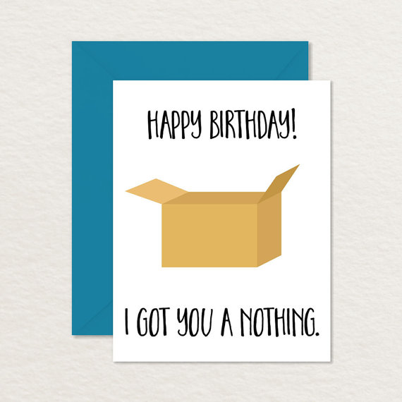 Printable Birthday Card Funny I Got By Brainooli