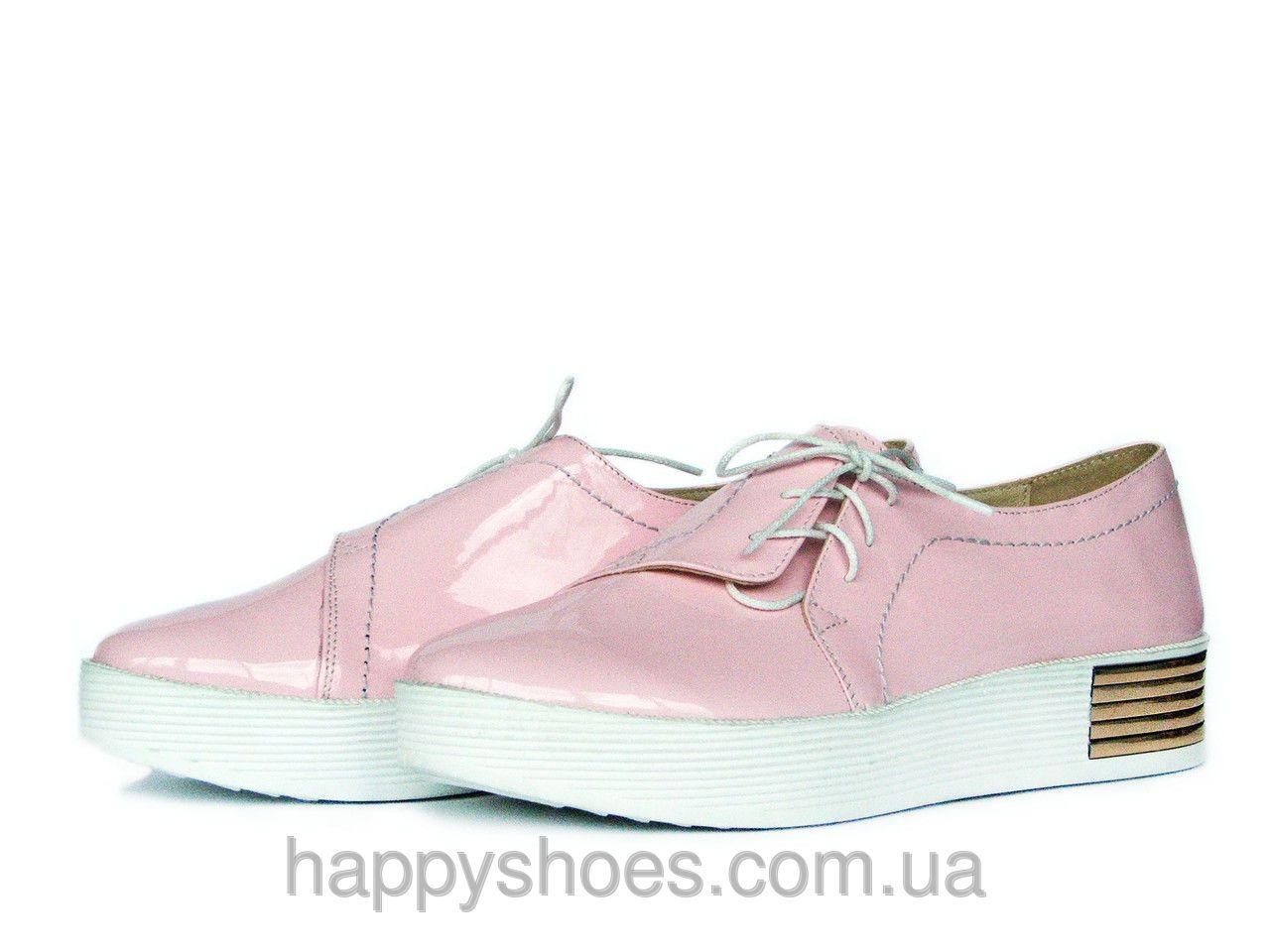 Женские розовые лаковые слипоны с боковой шнуровкой  продажа 7a60e5020abd2