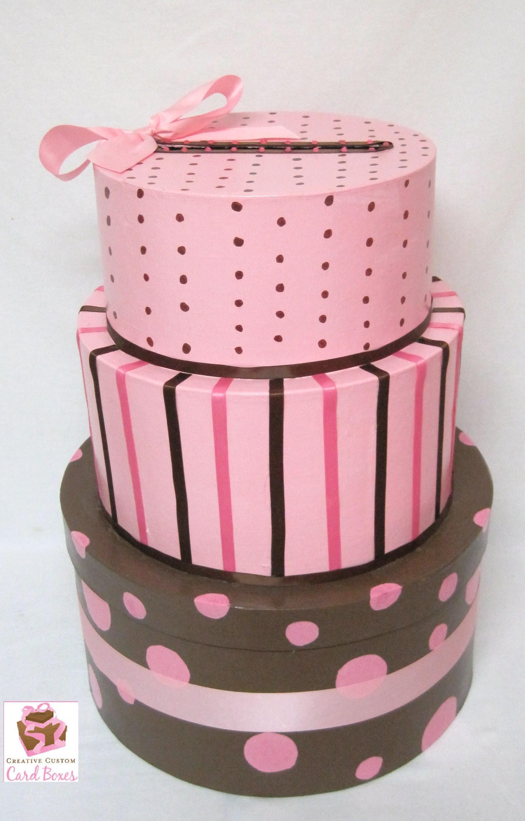 3 tier cake replica card box