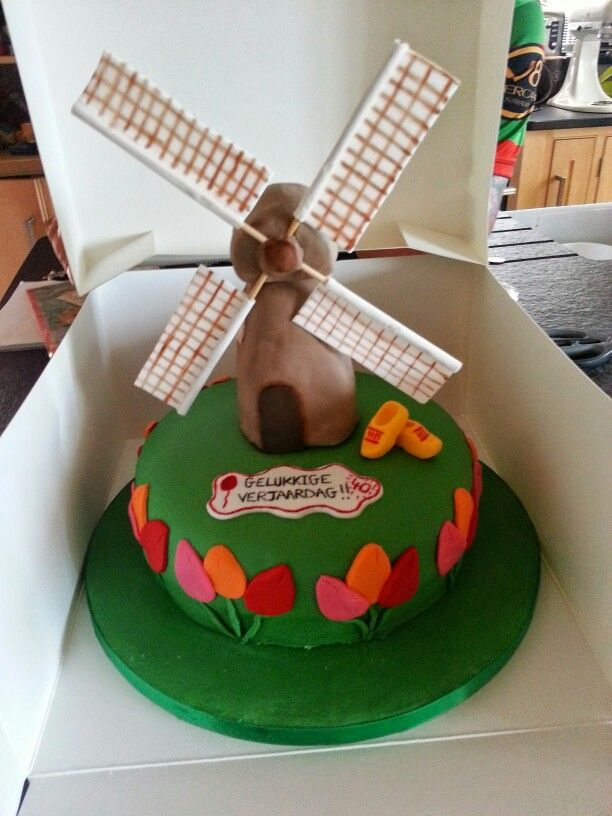 Dutch Theme Cake 1 Pasta Cenneti Pinterest Cake Themed Cakes