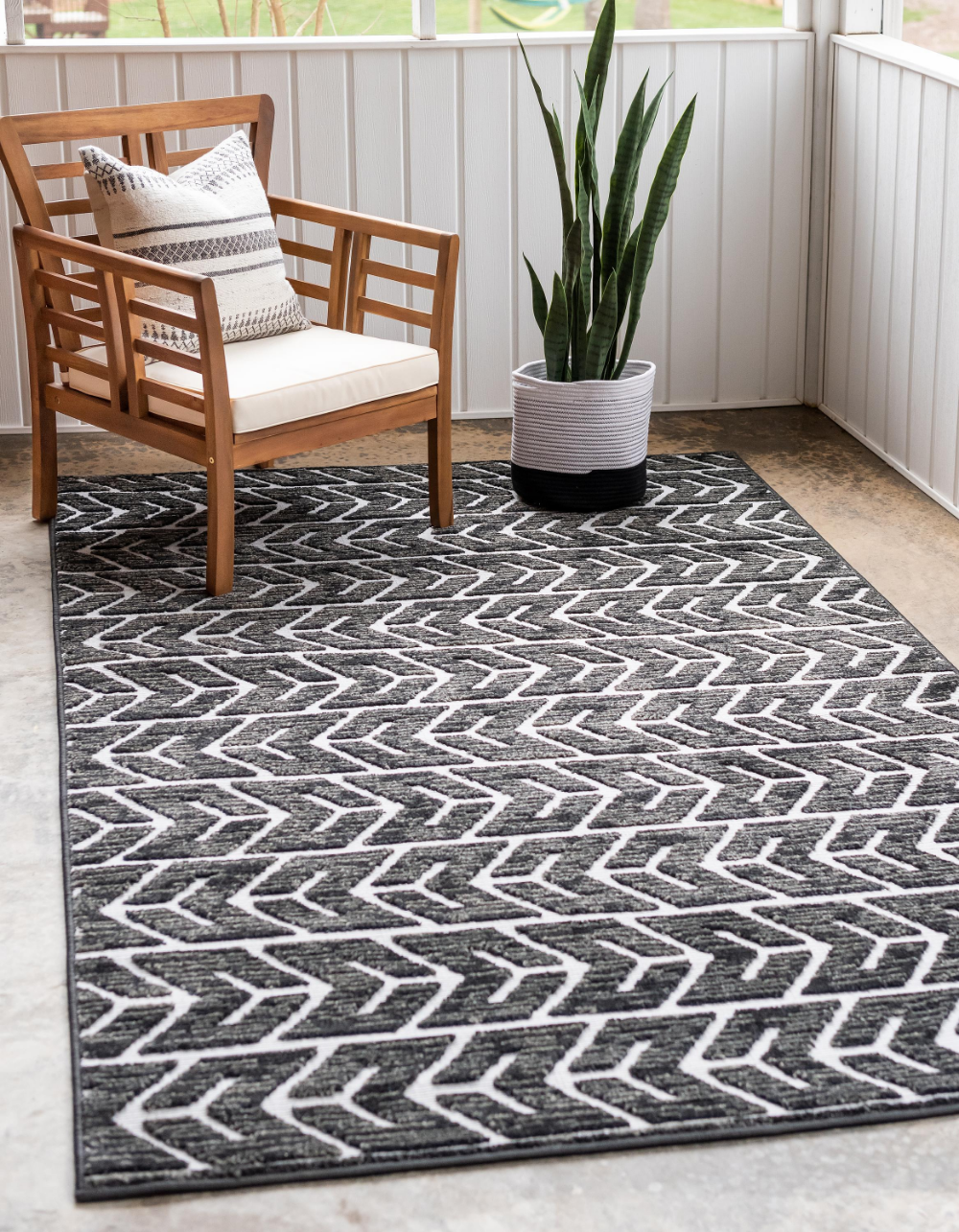 Black 8 X 10 Sabrina Soto Outdoor Rug Rugs Com Decoracion Gris Decoracion De Unas Gris