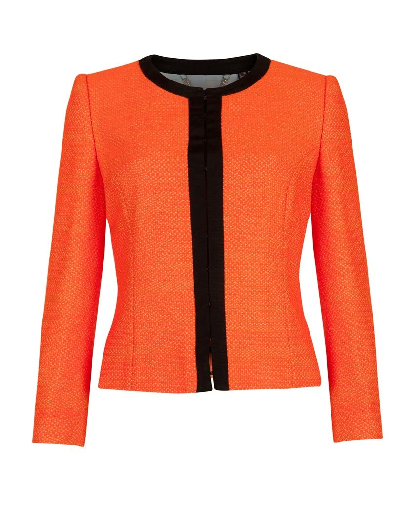 d873a00138516 Neon cropped jacket - HAZELLE by Ted Baker