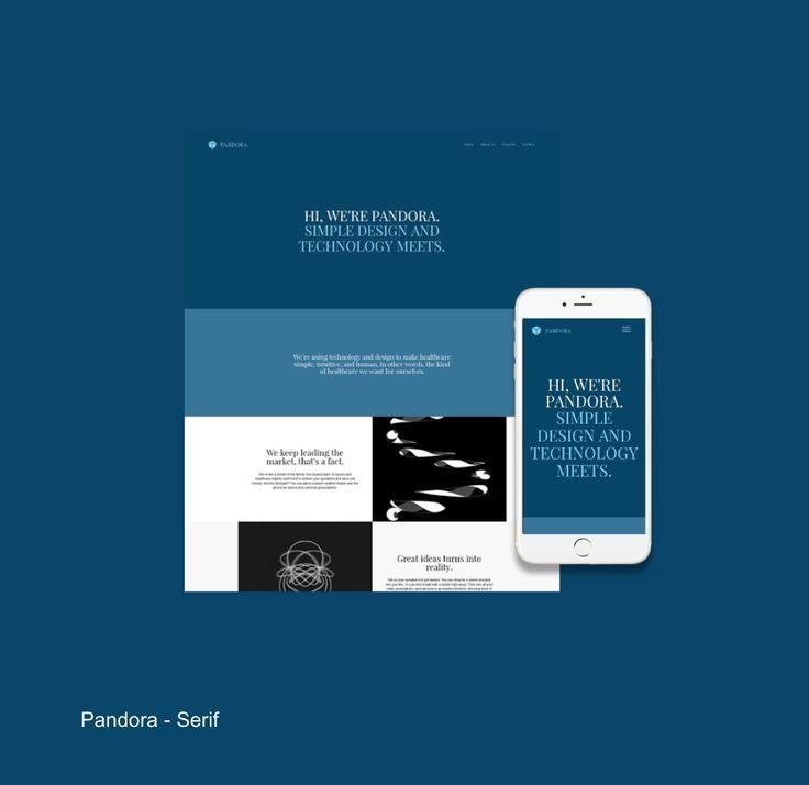 Business Website Template Pandora
