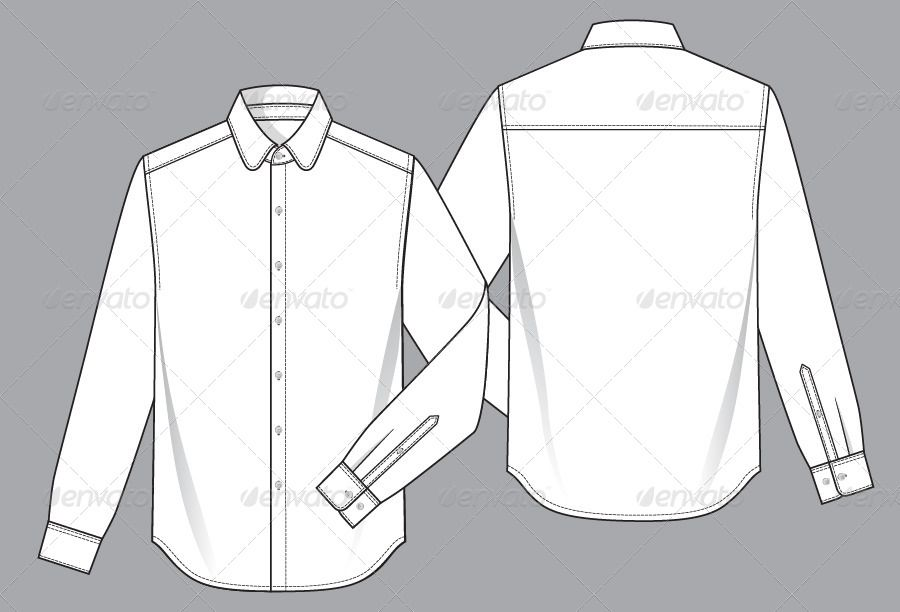 Mens Shirt Template