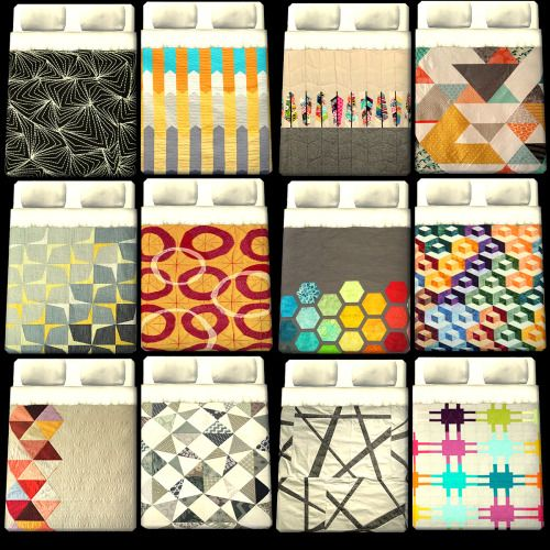 darkjeane asked if the textures of the modern quilts(on Jonesi's blanket) have been used for Eaxis bedding. Well, now they are. ;-) And 3 recolors of Shoukeir's Hansen beds to make it a...