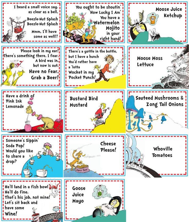 Dr Seuss Party Printables Free