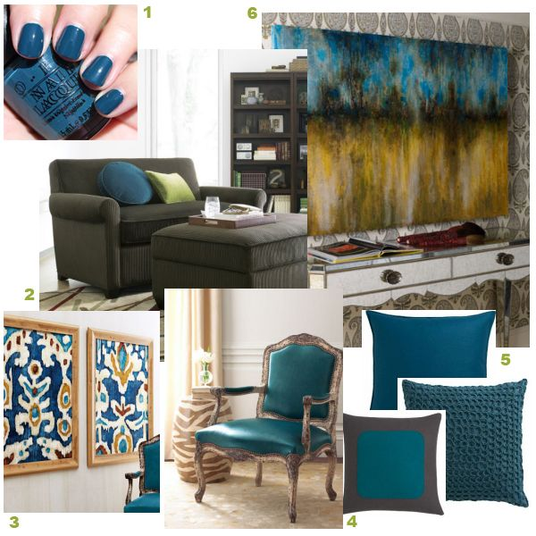 Live Love Decorate Peacock Blue Is This Color For You Design Home Decor House Interior #peacock #color #living #room #ideas