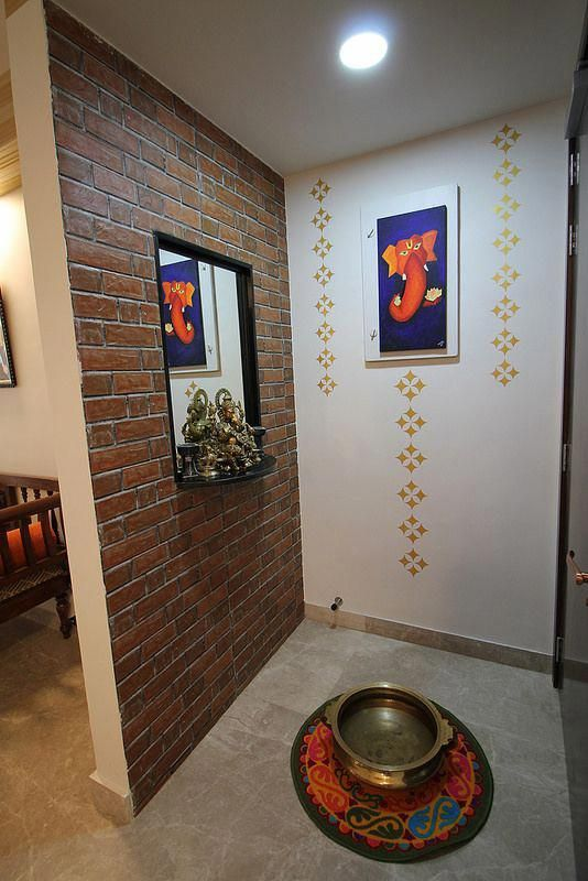 Foyer design for Indian homes with a Ganesha. #entryway # ...