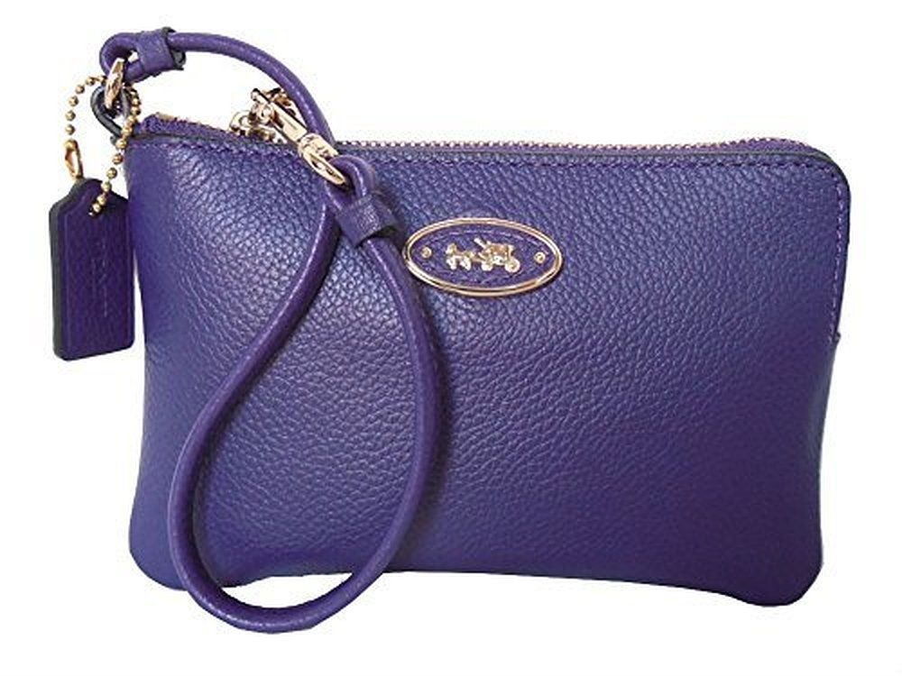 Coach L-zip Small Wristlet in Leather 52553