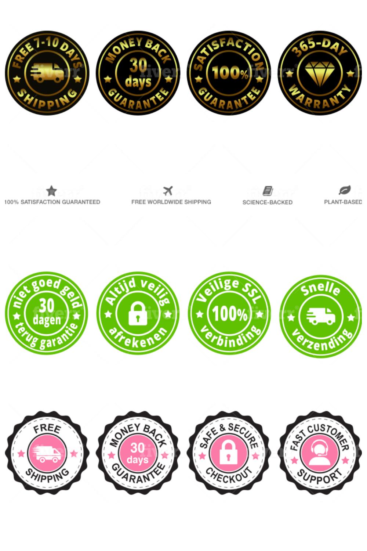 I Will Design Ecommerce Trust Badges Sale Badges Guarantee Badges Website Making Create Online Store Shopify Design