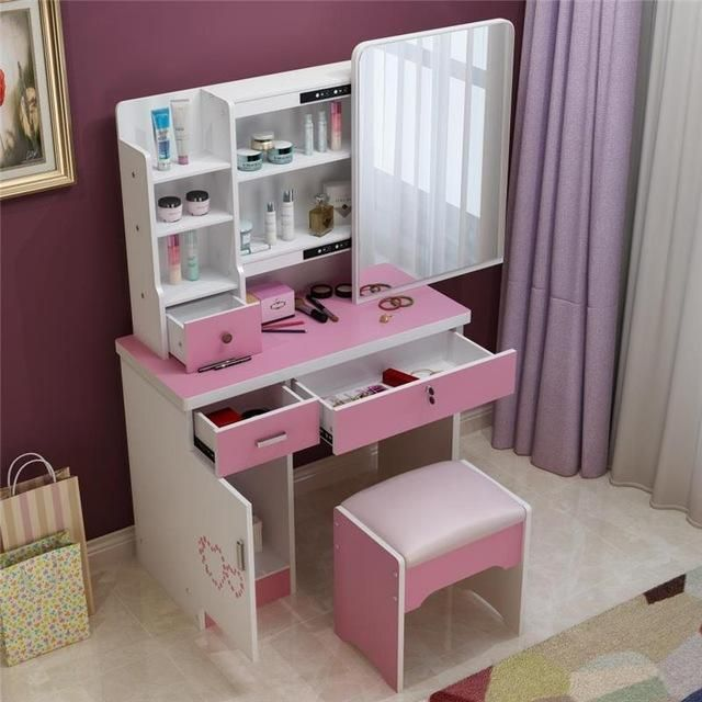 Stylish Storage Ideas For Small Bedrooms: Dresser Bedroom Make-up Table Simple Modern Small Mini