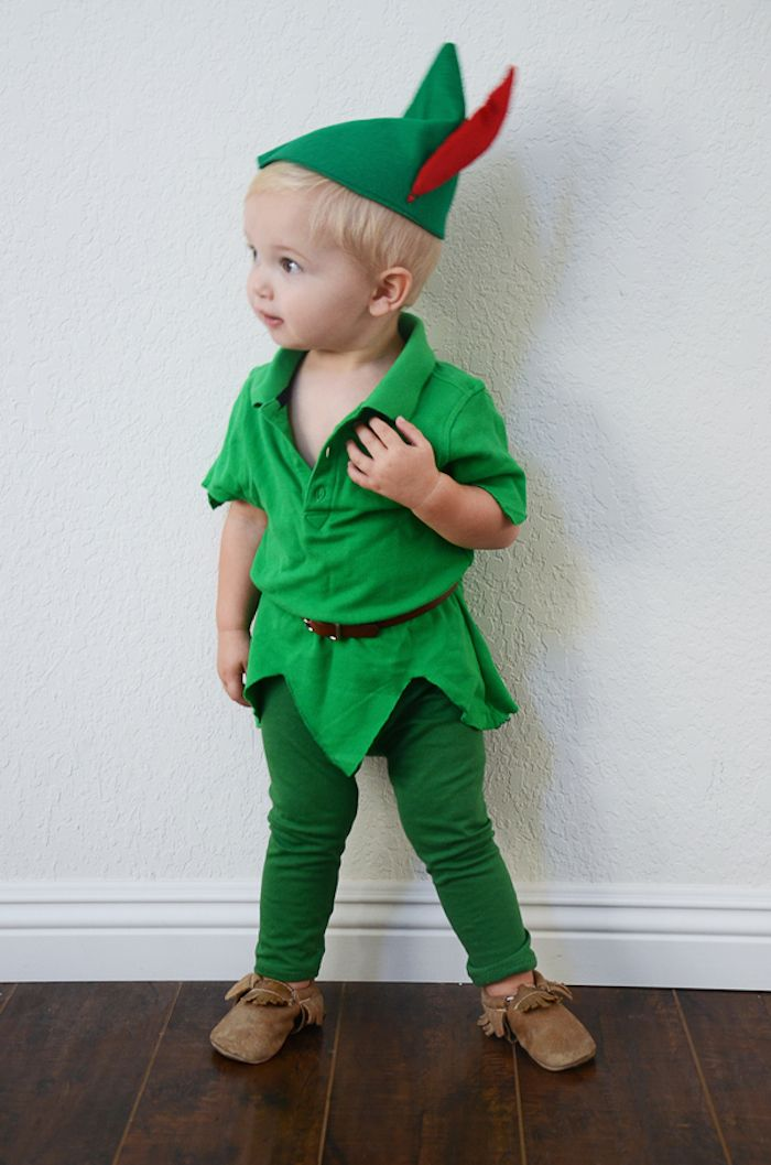 diy peter pan halloween costume for kids wir kost me n hen f r fasching karneval und. Black Bedroom Furniture Sets. Home Design Ideas