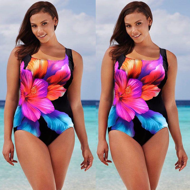 a0109440e5d Plus Size Sexy Swimwear Women Bikini Set Push-Up Padded One Piece Swimsuit  New  Unbranded  Monokinis