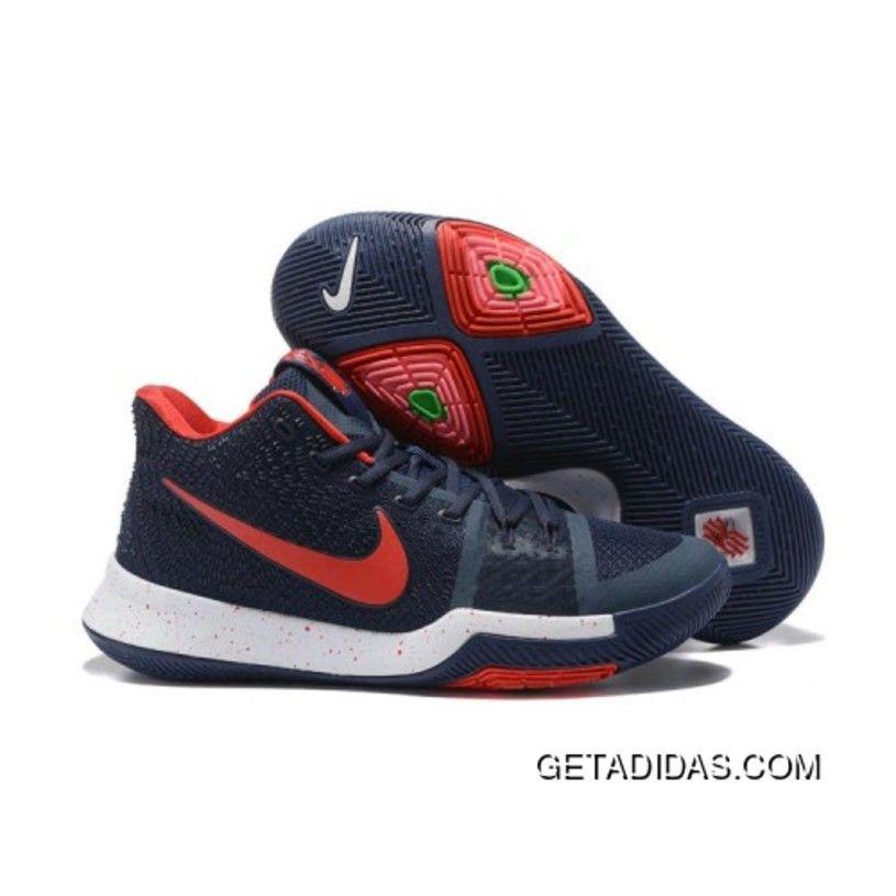 Original Real Nike Kyrie 3 Crimson Orange Black