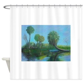 Just Another Day In Old Florida Shower Curtain