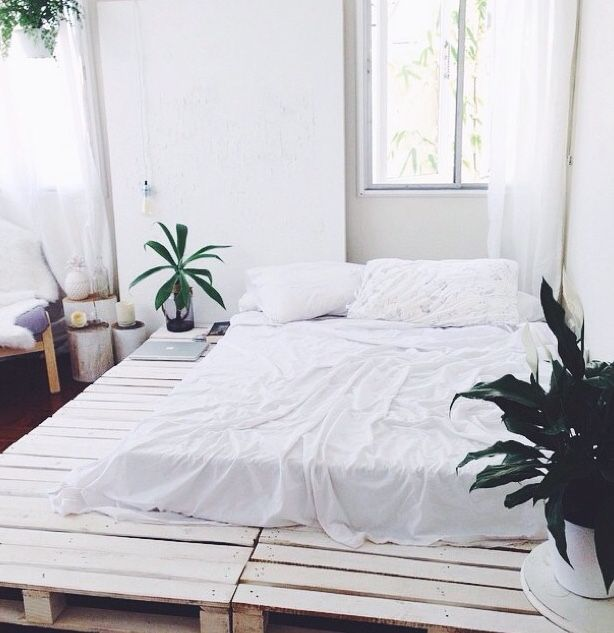 Tumblr | Nesting | Pinterest | Palette bed, Pallets and Bedrooms