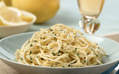#Barilla Spaghetti with Fresh Lemon & Basil