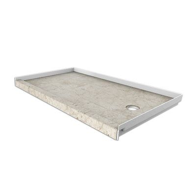 Flexstone 30 X 60 Single Threshold Shower Base Drain Location