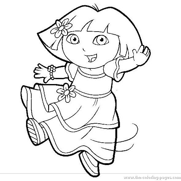 Free Dora The Explorer Coloring Page Pages 8 Printable