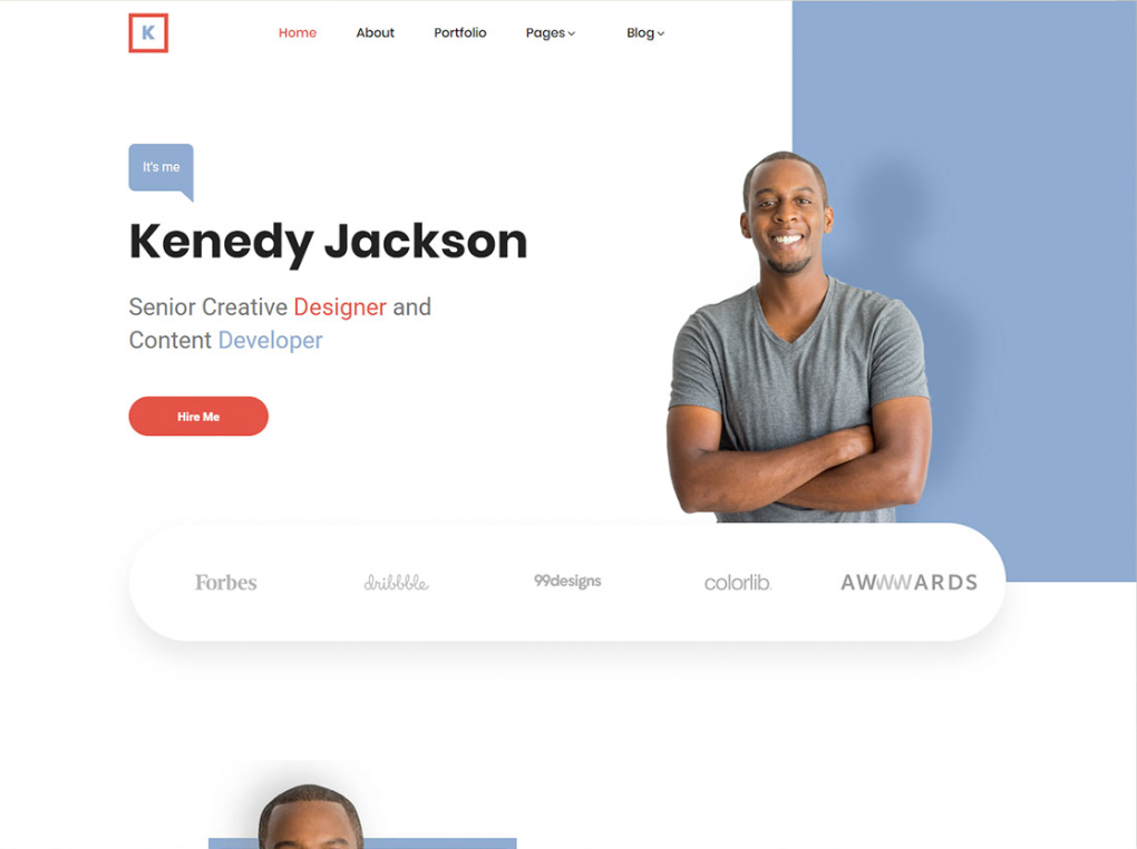 Free Simple Personal Website Html Template When You Have A Great Personality And A Positive Working Mindset Anythin Personal Website Templates Html Templates